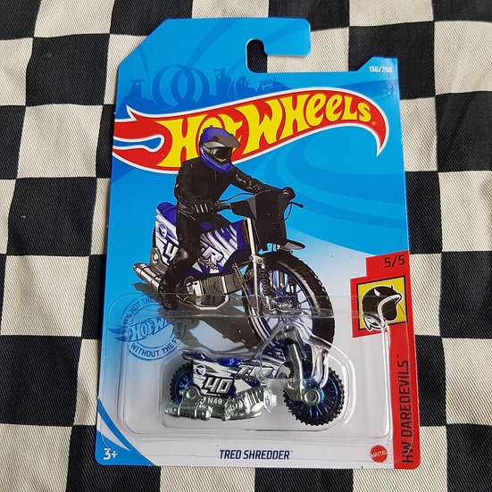Hot Wheels 2021 Daredevils Tred Shredder Speedway Bike Motorcycle Blue