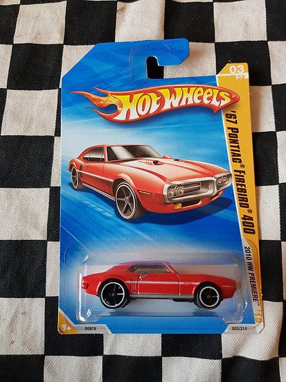 Hot wheels 2010 First Edition 67 Pontiac Firebird 400 RED
