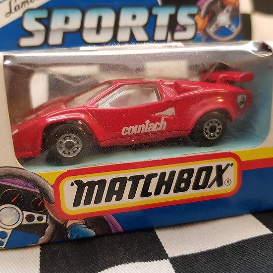 Matchbox 1991 Lamborghini Contach LP500s Red
