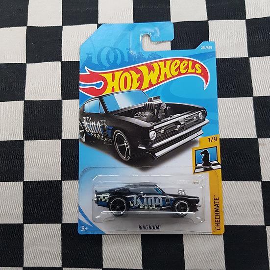 Hot Wheels 2018 Checkmate King Kuda Barracuda Black
