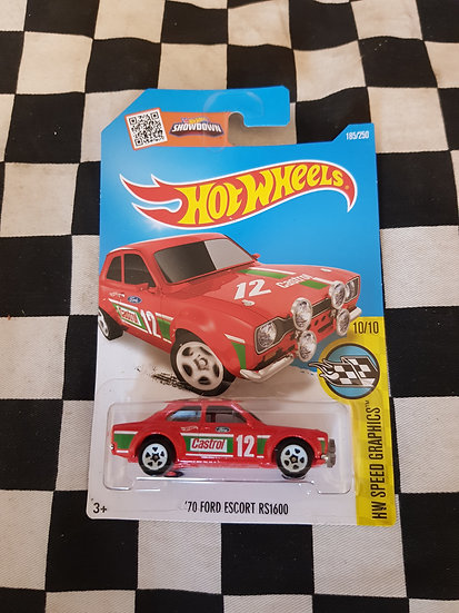 Hot Wheels 70 Ford Escort RS1600 CASTROL Red