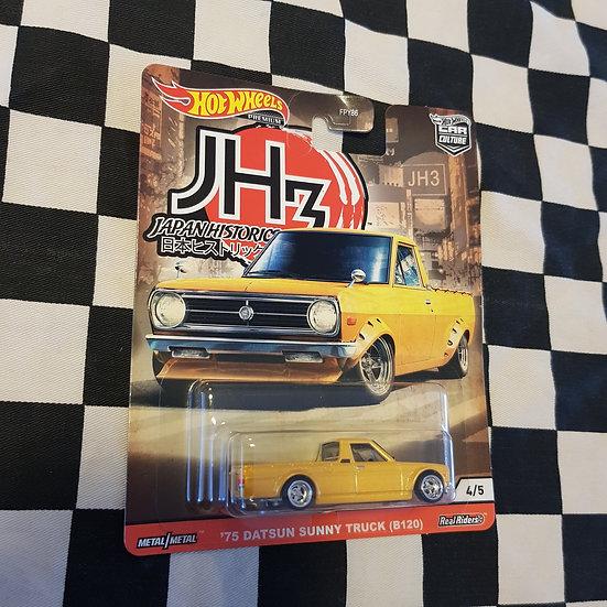 Hot Wheels JH3  75 Datsun Sunny Truck B120 Japan Historics JDM