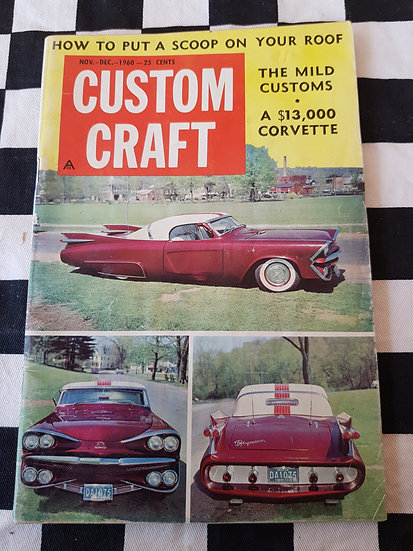 (LITTLE PAGES) CUSTOM CRAFT magazine nov dec 1960