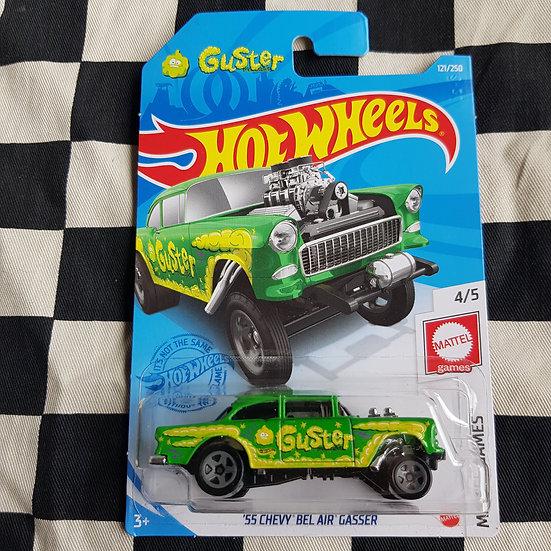 Hot Wheels 2021 Mattel Games Guster 55 Chevy Bel Air Gasser