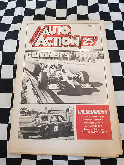 FIRST ISSUE Australian Auto Action Magazine #1 Feb 24 1971