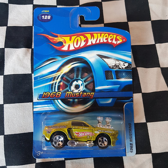 Hot Wheels 2006 1968 Mustang Lime Gold