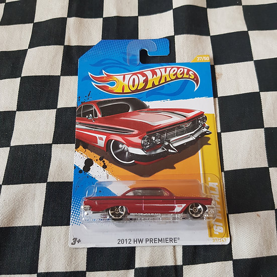 Hot Wheels 2012 First Edition 61 Chev Impala Red