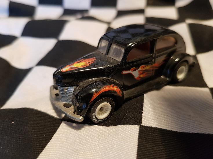 Hotwheels 40 Ford 2 Door Vintage loose model car (Real riders, white rims black)