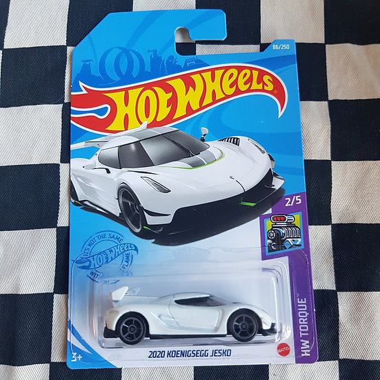 Hot Wheels 2021 Torque 2020 Keonigsegg Jesko white