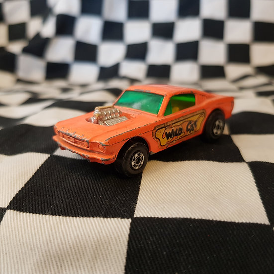 Vintage Matchbox Superfast Wildcat Dragster Blown Mustang Fastback Orange