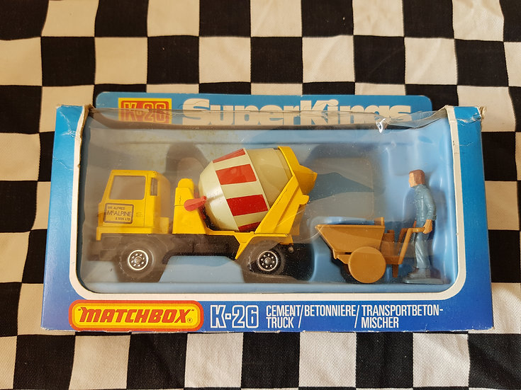 Matchbox Super Kings K26 Cement Truck Boxed