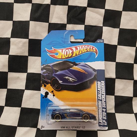 Hot Wheels 2012 Stars Lamborghini Gallarardo LP 570-4 Superleggera BLUE