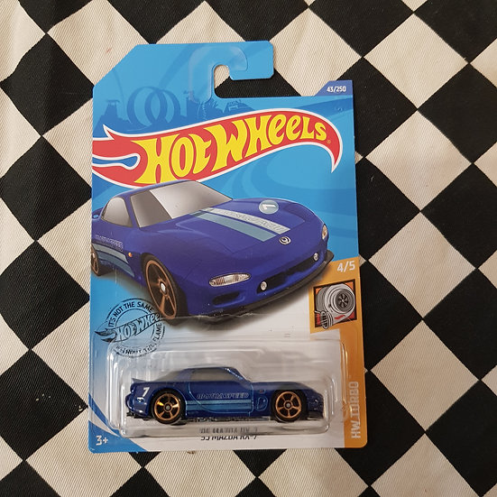 Hot Wheels 2020 Turbo 95 Mazda RX-7 Blue