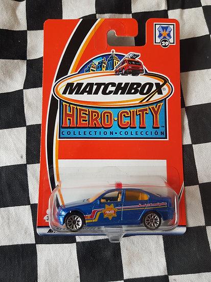 Matchbox 2002 Hero City BMW 328i Police Car