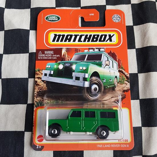 Matchbox 2021 1965 Land Rover Gen II Green