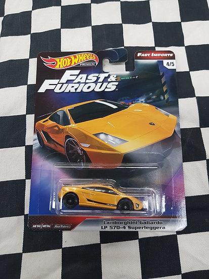 Hot Wheels Premium Fast & Furious Lamborghini Gallardo LP 570-4 Superleggera