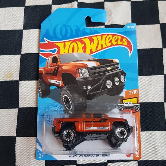 Hot Wheels 2021 Hot Trucks Chevy Silverado Off Road Orange