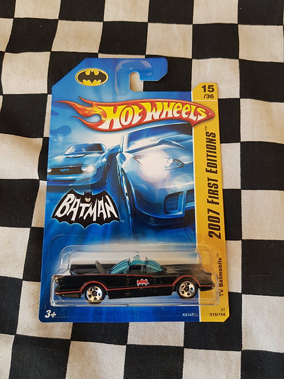 Hot Wheels 2007 First Editions TV BATMOBILE (Smooth Grille Variation)