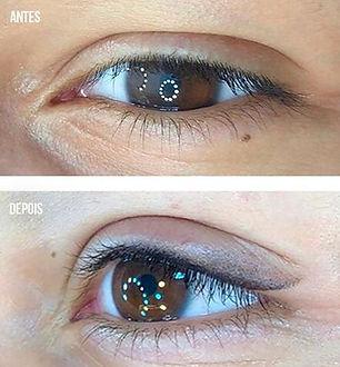 Antes e Depois - Olhos