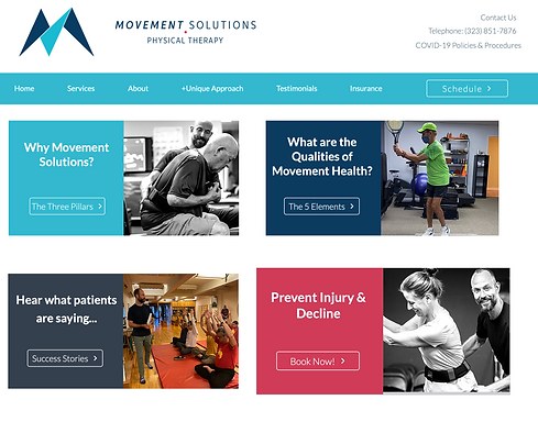 Movement Solutions Physio new website