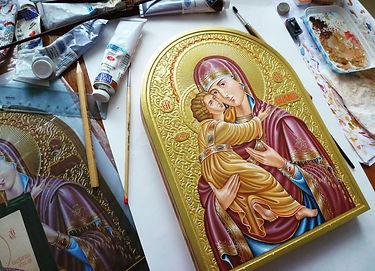 Рукописные иконы, живопись, ручная работа