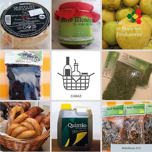 Cabaz com variedade de Produtos de Pequenos Produtores | Ref. 012