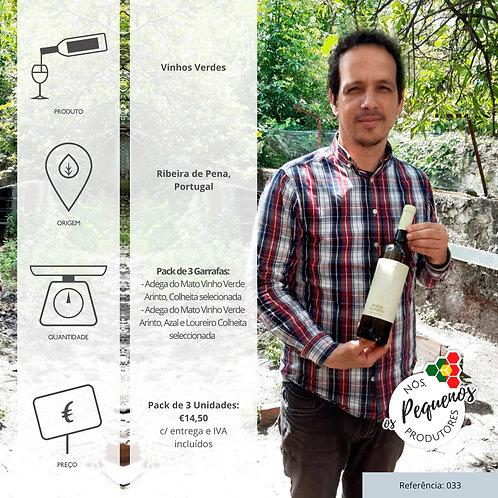 Pack de 3 Garrafas de Vinho Verde