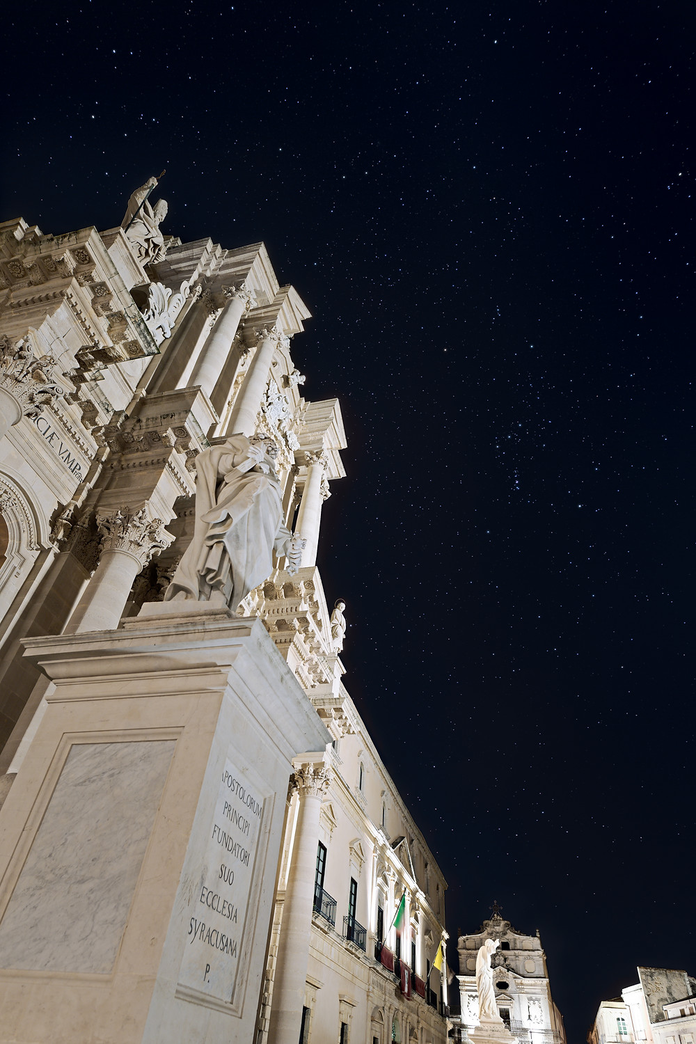 Orion Constellation above Siracusa's Duomo (Cathedral) Copyright Dario Giannobile Astrophotographer
