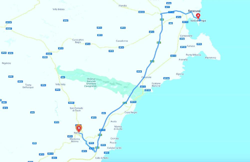 Flower Festival Noto 2020 From Ortigia, Siracusa to Noto 40 km