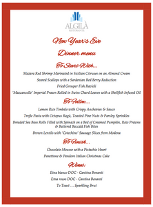New Years Eve Dinner 2019 @ Hotel Algilial with Chef Alessio