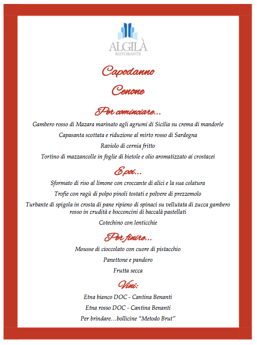 New Years Eve Dinner 2019 @ Hotel Algilia with Chef Alessio