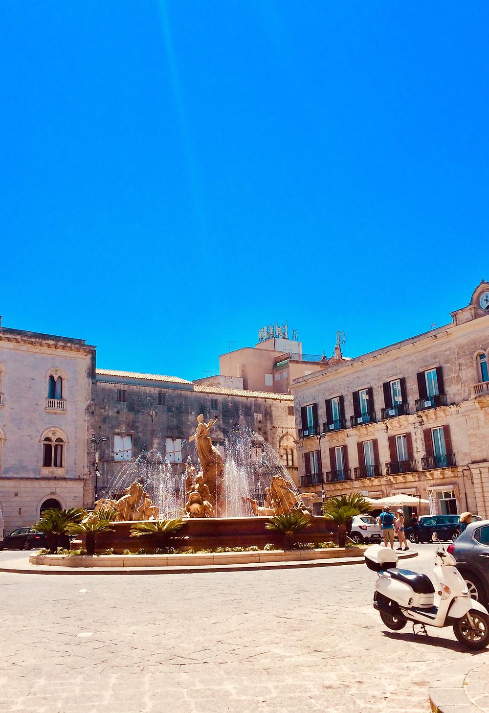 Piazza Archimedes Ortigia Siracusa Sicily