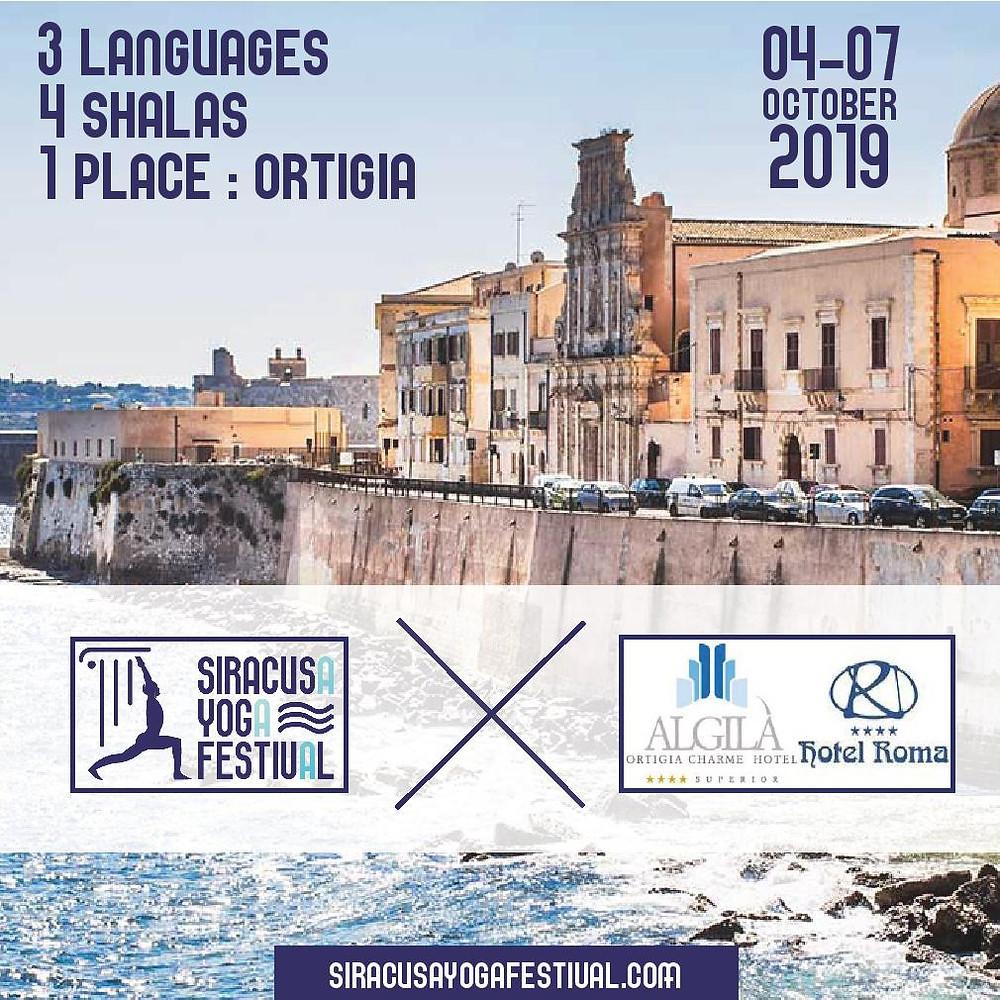 Siracusa Yoga Festival 2019 in Conjunction with Algilà Ortigia Charme & Antico Hotel Roma 1880, Ortigia, Sicily.