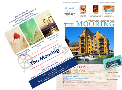 eMagazine & Flyer for The Mooring Cafe Bar
