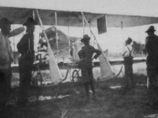 Robert Fowler's Wright at Ranger - 1911