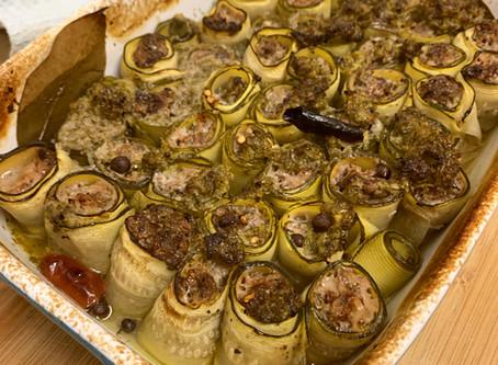פרוסות זוקיני ממולאות בשר