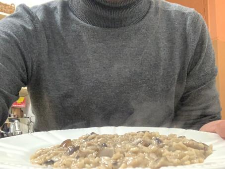 ריזוטו פטריות איטלקי כהלכתו עם ציר ירקות ביתי