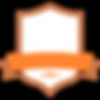 Badge orange Blank
