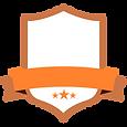 Пустой оранжевый знак