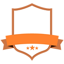 Blank Orange Badge