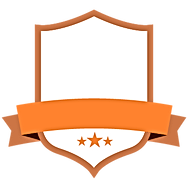 Badge orange Blank