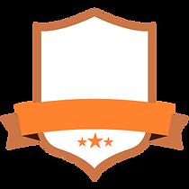 Blank Orange Badge