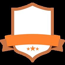 ブランクオレンジバッジ