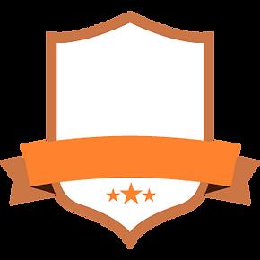 Leeren orange Abzeichen