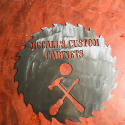 Custom Saw Blade Sign