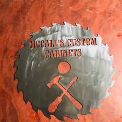 Custom Saw Blade Sign