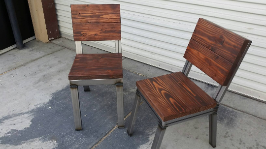 Steel & Wood Chairs