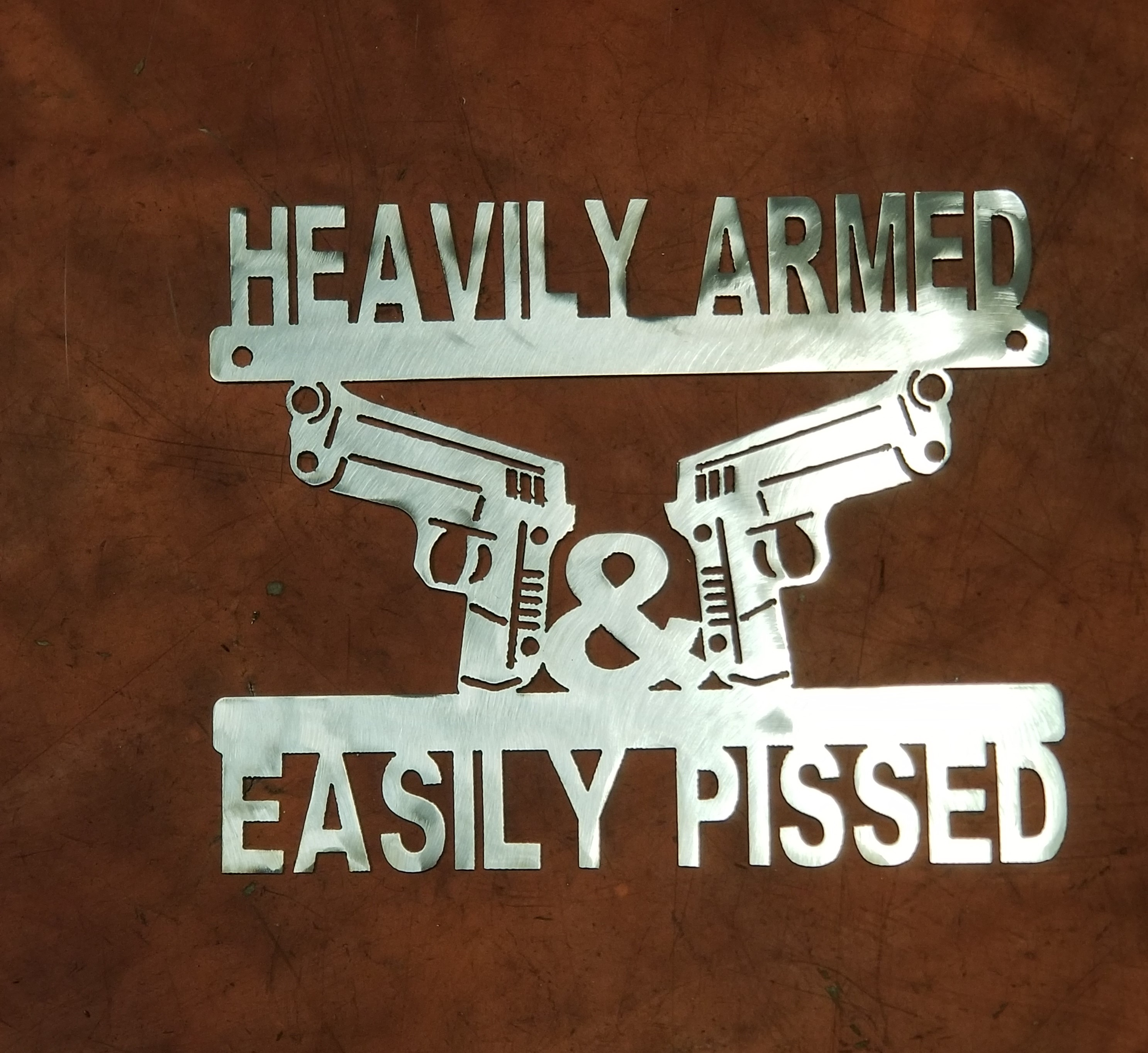 Heavily Armed Plaque