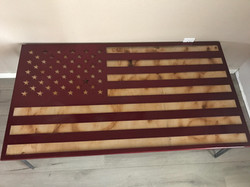 American Flag Dining Table
