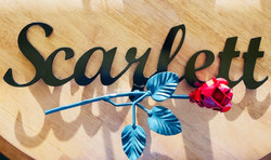 Custom Name Plaque w/ Rose